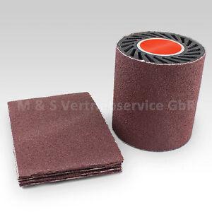 5x Schleifband Schleifpapier 60, 100x284mm für Satiniermaschine Expansionswalzen