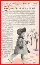 ▬►Page Poupée Françoise Modes et Travaux Octobre 1955 -  10/1955
