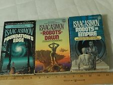 The Robots of Dawn + Foundation's Edge + by Isaac Asimov (Paperback) LOT of 3