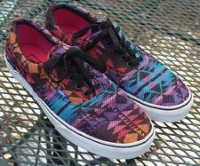 Vans Aztec Native Blanket Print Purple Teal Pink Men's Size 12 Shoes Sneakers