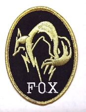 """Metal Gear Fox Hounds Special Forces Oval Logo 3.5"""" Brite Gold Patch7(Mgpa-07)"""
