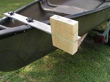 Canoe trolling motor mount - Double Block- Aluminum / Ash