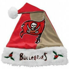 Tampa Bay Buccaneers NFL Santa Hat Cap Christmas Football 2-Tone Red & Pewter TB