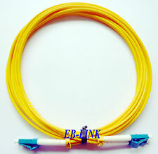 100M, 328ft, LC-LC, Duplex, Optical Fiber Cable Patch Cord,LC to LC,SingleMode
