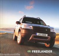 Land Rover Freelander Prospekt 2002 brochure prospectus prospecto prospetto Auto