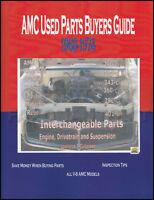 AMC Javelin and AMX Parts Interchange Manual 1968 1969 1970 1971 1972 1973 1974
