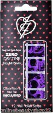 Iron Fist American Nightmare Purple Nail Polish Strips Stickers Skull Halloween
