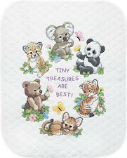Dimensions Stamped Cross Stitch Kit - Baby Animals Quilt