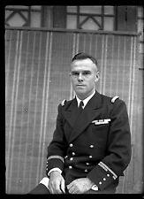 Ancien négatif photo sur verre plaque portrait homme officier de marine Toulon