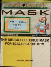Eduard 1/48 EX098 Canopy Mask for the Academy/Eduard P-38 Lightning kit