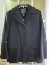Abercrombie&Fitch Dark Blue Buttoned Up LongSleeve Wool Jacket Women M **EX**