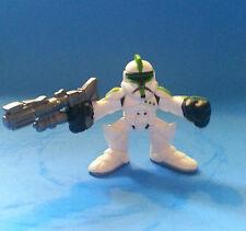 "Star Wars Galactic Heroes CLONE TROOPER GREEN 2"" Hasbro 2004 & FREE ORANGE ONE"
