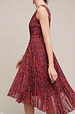 NWT Anthropologie $198 Plenty By Tracy Reese Pleated dress size 6