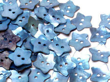 MB473 Blue Mother of Pearl Sewing Craft DIY Star Shell Buttons 20mm 30pcs