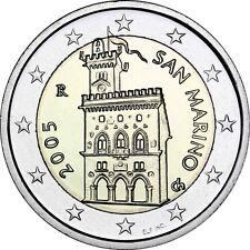 San Marino 2 Euro-Münze Regierungspalast 2005 prägefrisch in Münzkapsel