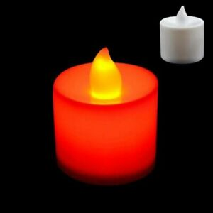 LED Electronic Glow Candle Simulation Flame Candle Multi-color Light Party Decor