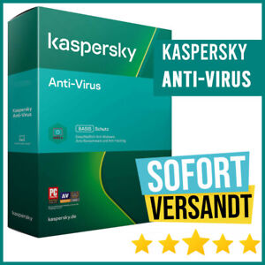 Kaspersky Antivirus 2021 - 1PC, 3PC, 5PC / Geräte 1 Jahr - 2 Jahre - E-Mail