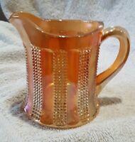 Vintage Hazel atlas  Carnival Glass Marigold iridescent panels/squares