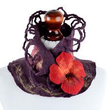 Aubergine collar for women, eggplant wrap scarf, feminine purple neck warmer