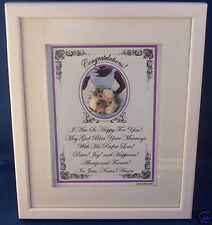 "New Bible,Verse,Plaques/Signs ""God Bless Your Marriage""Christian,W edding Gift $75"