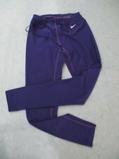 Nike womens running leggings athletic work out training small s purple