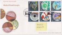 TALLENTS GB ROYAL MAIL FDC FIRST DAY COVER 2010 MEDICAL BREAKTHROUGHS STAMP SET