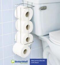 Toilet Paper Roll Tissue Holder Bathroom Rack Chrome Hanging Storage Organizer