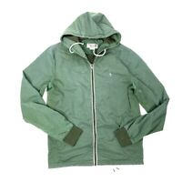 ORIGINAL PENGUIN Mens Green Full Zip Light Windbreaker Medium Nylon
