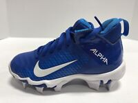 Nike Alpha Menace 2 Shark GS Boy's Size 10M, Cleats, Blue/White