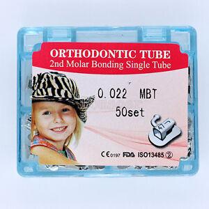 50set Dental Orthodontic Buccal Tube Bonding Single Tube 022 MBT For 2nd molar