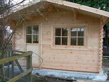 OSLO LOG CABIN - 4m x 5m - 34mm - Summer House, Garden Building, Home Office