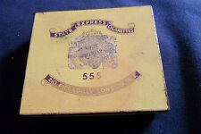 VINTAGE STATE EXPRESS CIGARETTE TIN 555 , 210 PICCADILLY LONDON , No. 3959