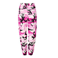 UK Womens Camo Cargo Trousers Casual Pants Military Army Combat Camouflage Jeans