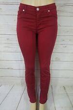 Hudson Nico Midrise Super Skinny Jeans Womens Size 28 Burgundy