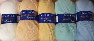 Woolcraft new fashion 100g DK Wool x5 mixed colour bundle Knitting & Crochet