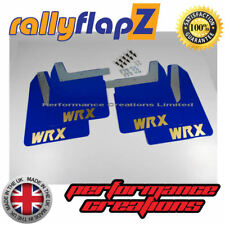 Qty4 Mud Flaps & Fixings SUBARU IMPREZA New Age 01-07 4mm PVC Blue WRX Gold