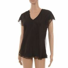 Waist Length Silk V Neck Regular Tops & Shirts for Women