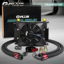 """Gplus Universal 30 ROW AN10 Engine Transmission Oil Cooler + 7"""" Electric Fan Kit"""