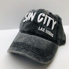 New - Sin City Las Vegas Weathered Baseball Cap Hat