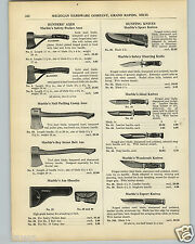 1936 PAPER AD Marble's Ideal Woodcraft Hunting Sport Knife Knives Axe Axes
