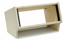 4 Space (4U) | Unfinished Birch Angled Desktop Rackpod Turret Studio Rack