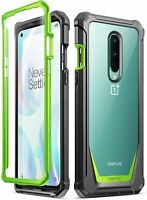 Poetic For OnePlus 8 Case,Hybrid Clear Back Shockproof Protective Cover Green