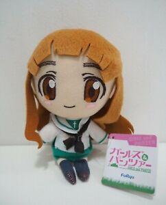 "Girls und Panzer Saori Takebe Furyu Strap Mascot Plush 6"" TAG Doll Japan"