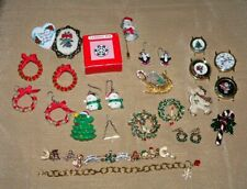 Christmas/Holiday Jewelry/Watches-22 Pcs-Some Vintage-Ers, Bracelets, Brooches+