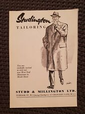 Studington Tailoring - 1957 Advertisement