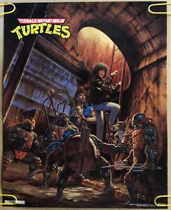 Original Vintage Poster Teenage Mutant Ninja Turtles Collage Tv Memorabilia 1990