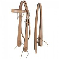 Royal King Light Oil Ranch Boss Browband Headstall w/ Reins Horse Tack Equine