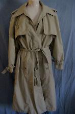vtg 60s 70s classic TRENCH COAT women sz S M khaki tan raincoat