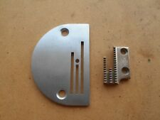 NEW THROAT PLATE AND FEED DOG TO SUIT INDUSTRIAL WALKING FOOT LARGE NEEDLE HOLE