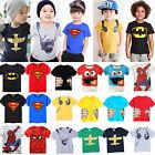 enfants garçons bébé été dessin animé T-shirt haut Chemisier manches courtes